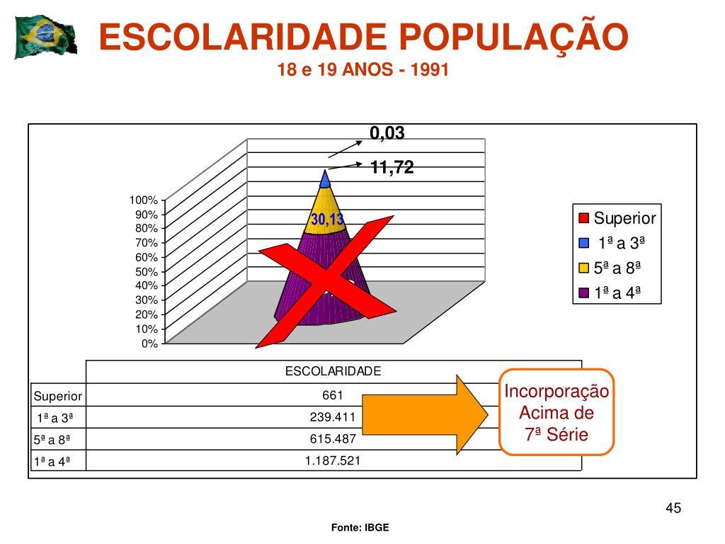 ESCOLARIDADE POPULAÇÃO