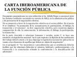 carta iberoamericana de la funci n p blica
