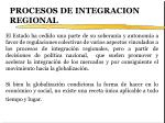 procesos de integracion regional