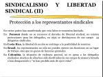 sindicalismo y libertad sindical ii