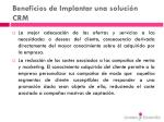 beneficios de implantar una soluci n crm86