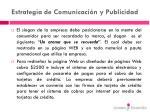 estrategia de comunicaci n y publicidad