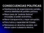 consecuencias politicas