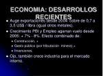 economia desarrollos recientes