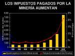 los impuestos pagados por la miner a aumenta n