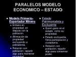 paralelos modelo economico estado