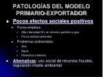 patolog as del modelo primario exportador