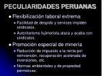 peculiaridades peruanas
