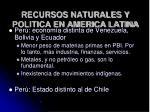 recursos naturales y politica en america latina66