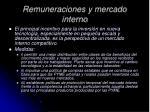 remuneraciones y mercado interno