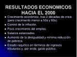 resultados economicos hacia el 2000