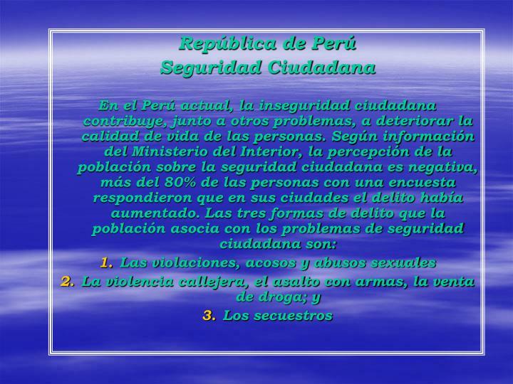 República de Perú