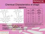 chemical characteristics of ellagic tannins