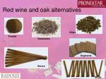 red wine and oak alternatives