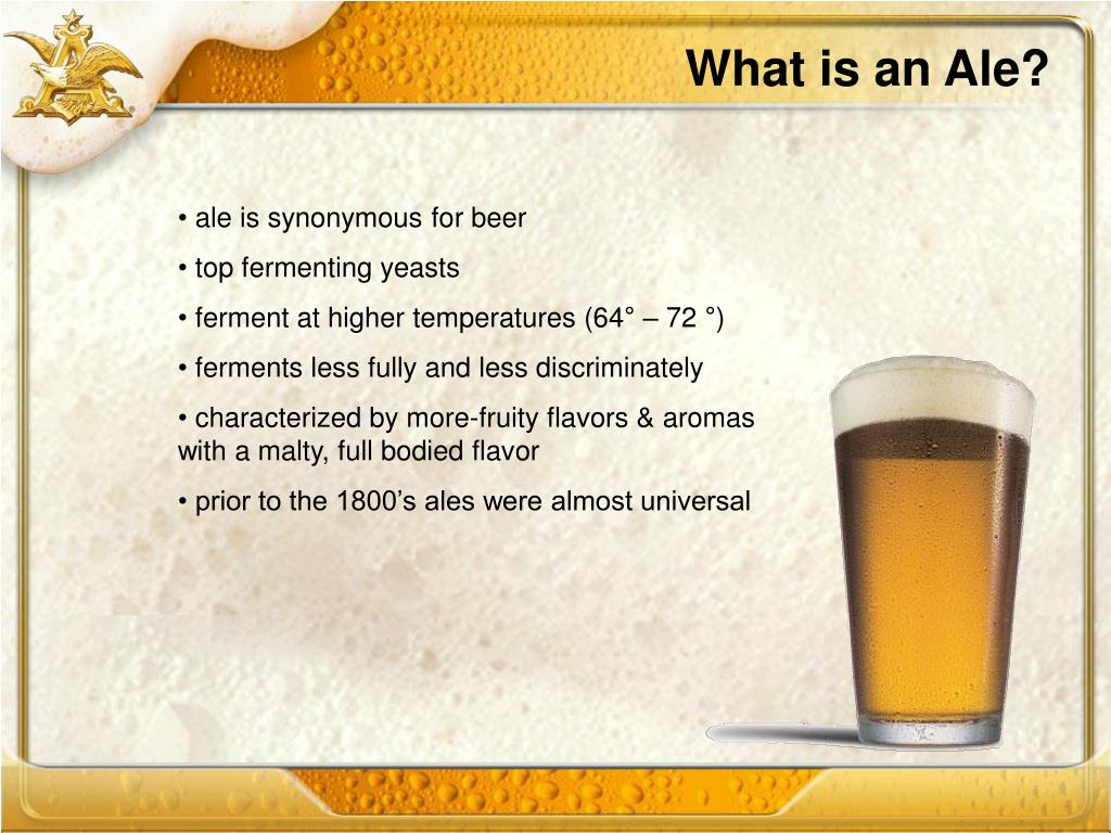 What is an Ale?