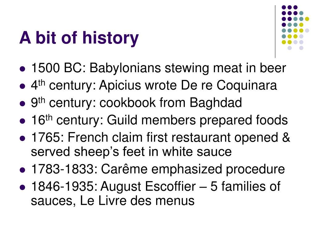a bit of history l.