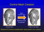 control mesh creation
