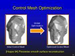 control mesh optimization