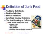definition of junk food