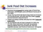 junk food diet increases