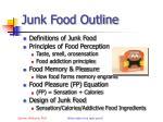 junk food outline