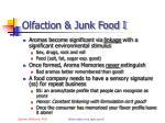 olfaction junk food i
