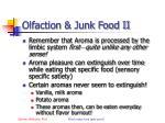 olfaction junk food ii