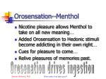 orosensation menthol