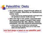 paleolithic diets