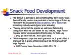 snack food development