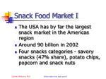 snack food market i