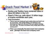snack food market ii