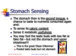 stomach sensing