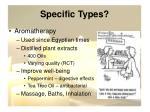 specific types