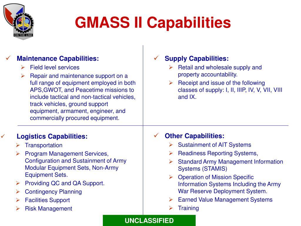 GMASS II Capabilities