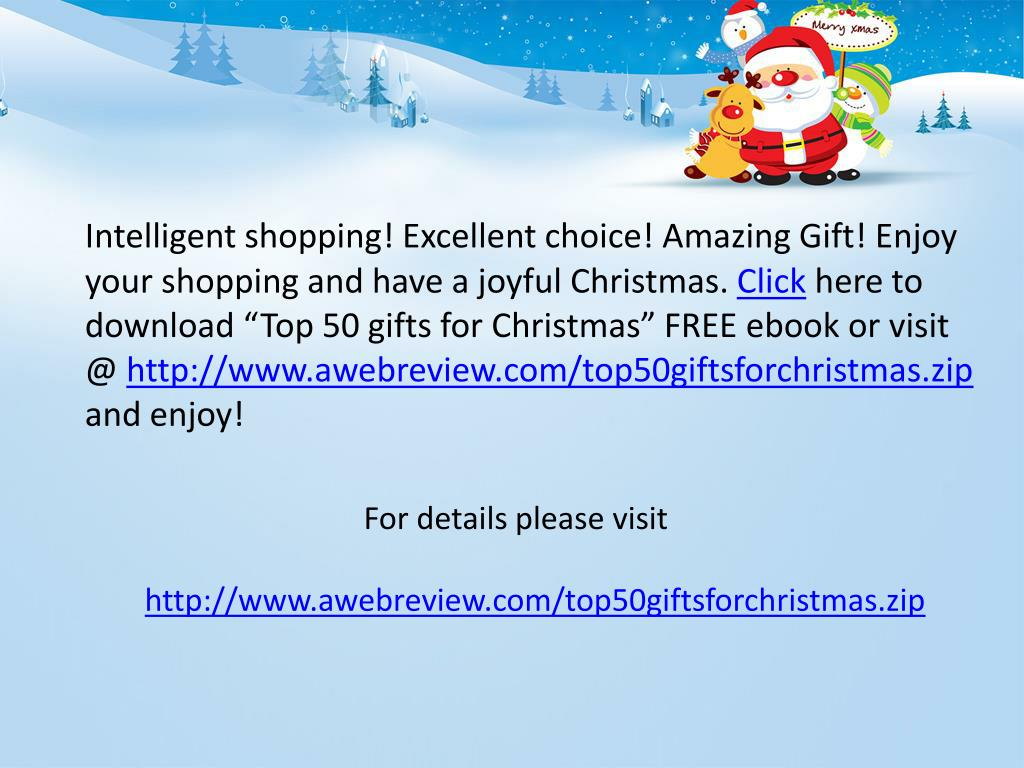 Intelligent shopping! Excellent choice! Amazing Gift! Enjoy your shopping and have a joyful Christmas.