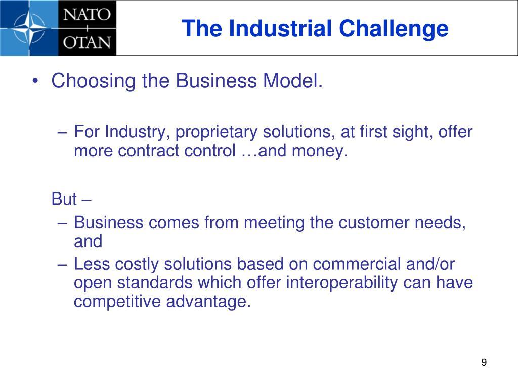 The Industrial Challenge