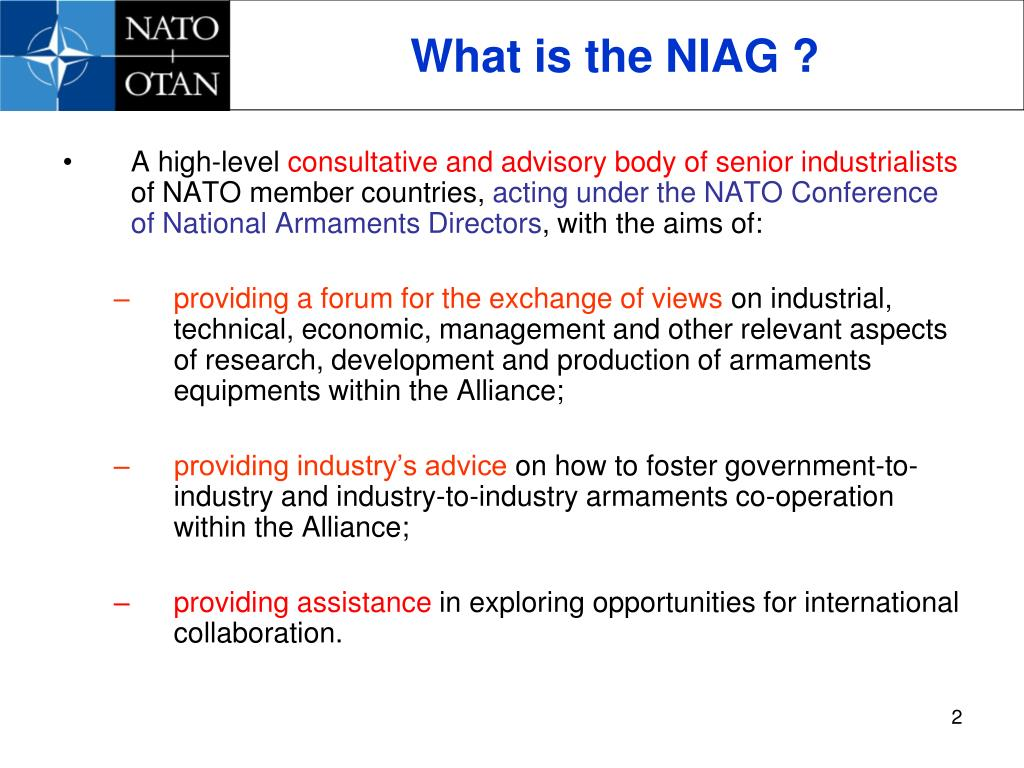 What is the NIAG ?
