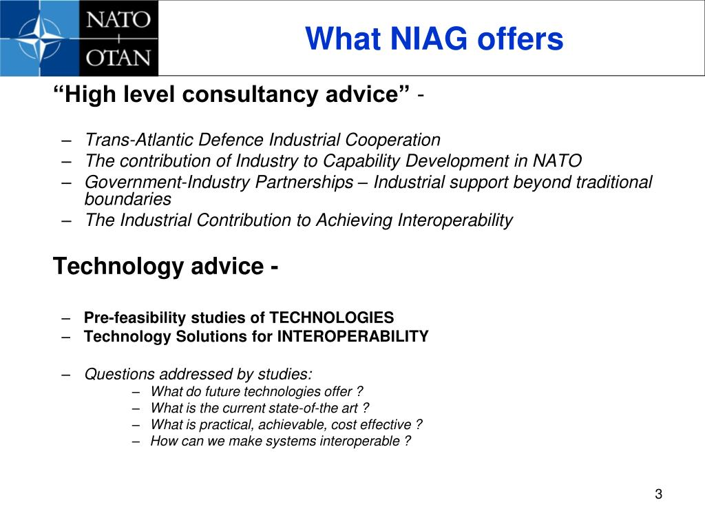 What NIAG offers