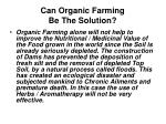 can organic farming be the solution