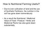 how is nutritional farming useful