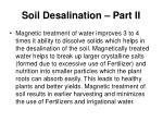 soil desalination part ii