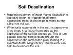 soil desalination