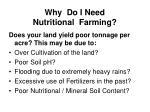 why do i need nutritional farming