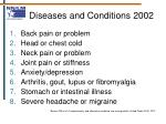 diseases and conditions 2002