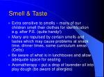 smell taste