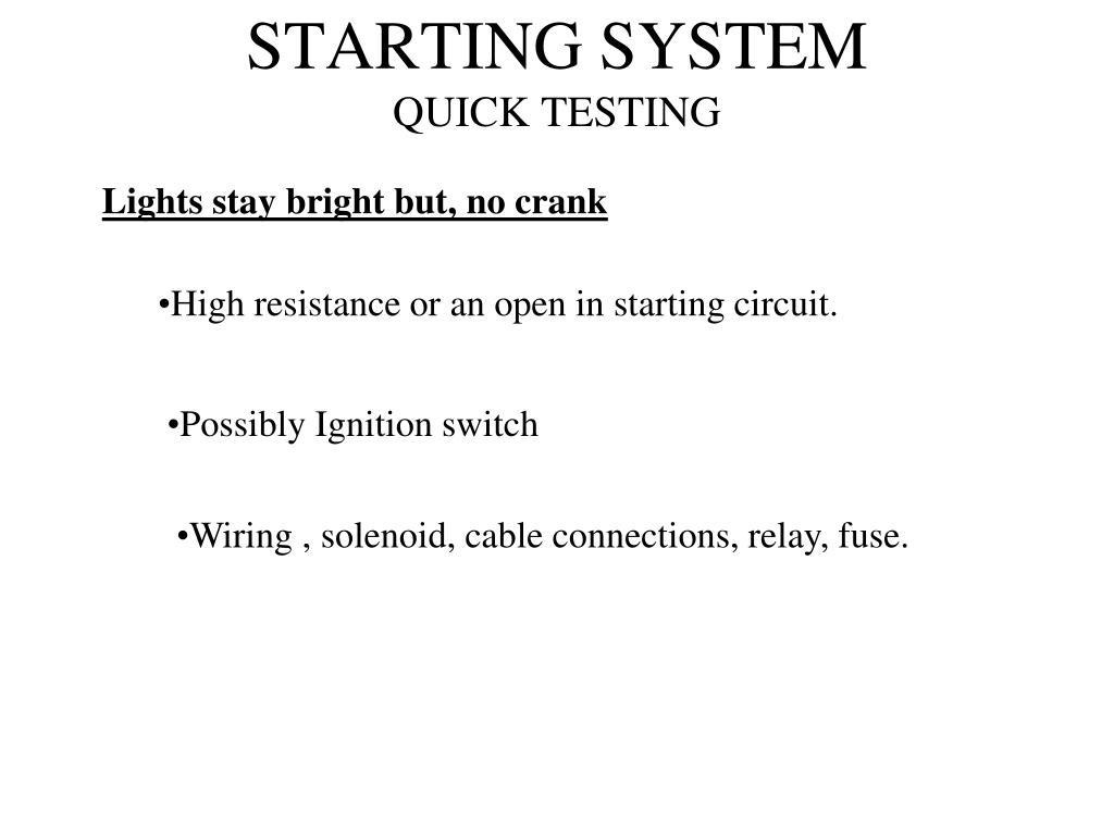 STARTING SYSTEM