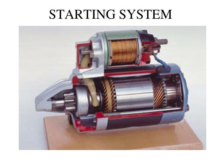 Starting system2
