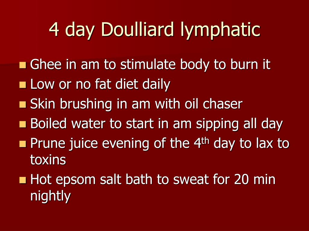 4 day Doulliard lymphatic