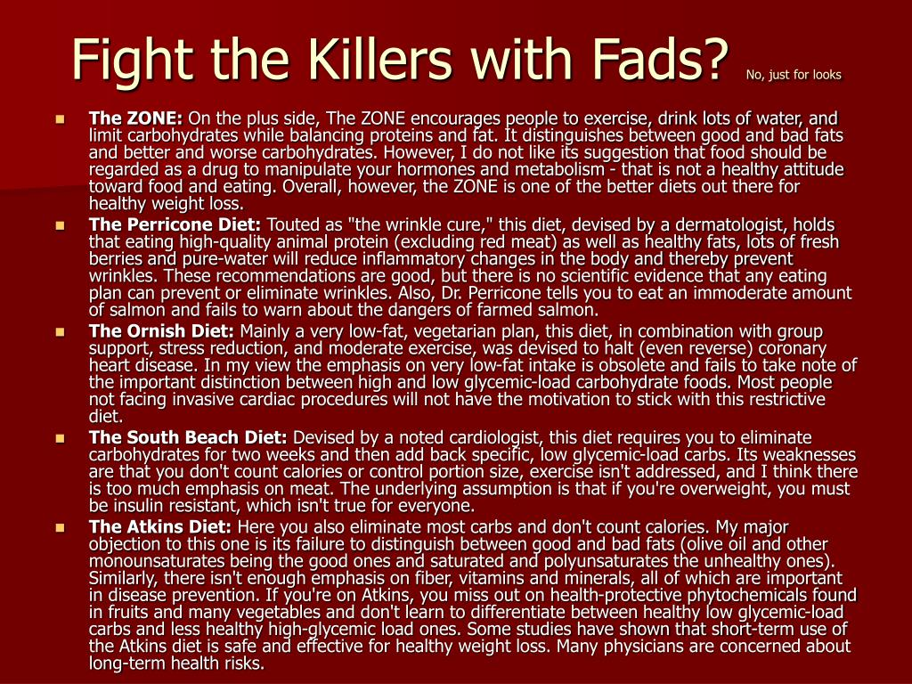 Fight the Killers with Fads?